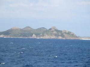 海から見る古宇利島