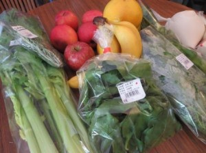 スムージーの野菜と果物!!